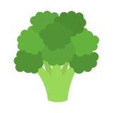 Broccoli piani dell'icona Fotografia Stock