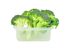 Broccoli in a plastic container. Stock Photography
