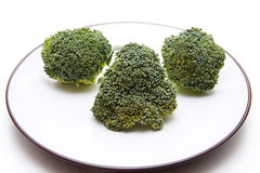 Broccoli with plate Royalty Free Stock Photography