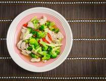Broccoli and pork stir-fry Royalty Free Stock Photo
