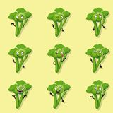Broccoli positive emotions Royalty Free Stock Photo