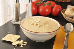 Broccoli, potato, cheese chowder Stock Image