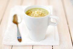 Broccoli, Potato and Cheese Soup Stock Photography