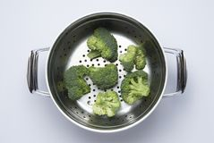 Broccoli preparation Stock Photography