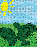 Broccoli puzzle pattern Stock Photos