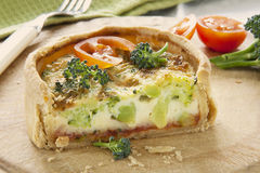 Broccoli Quiche Royalty Free Stock Photos