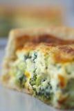 Broccoli Quiche Closeup Stock Images