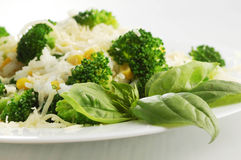 Broccoli and rice Stock Image