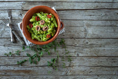 Broccoli Salad With Anchovies Stock Photo