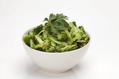 Broccoli in salad bowl Stock Photo