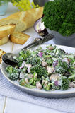 Broccoli salad.Close-up. Stock Photography