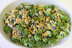 Broccoli salad finished Royalty Free Stock Image