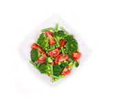 Broccoli salad with french beans and tomatoes. Stock Photo