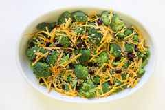 Broccoli salad healthy. Shot of a broccoli salad healthy lunch Royalty Free Stock Photo