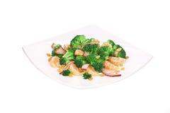 Broccoli salad with mandarin. Stock Images