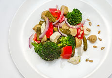 Broccoli salad in plate Royalty Free Stock Photo