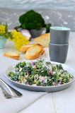 Broccoli salad. Selective focus. Stock Photos