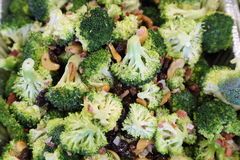 Broccoli salad. With variety of nuts and berries Stock Images