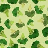 Broccoli seamless pattern. Green broccoli von  vegetable Royalty Free Stock Photography