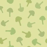 Broccoli seamless pattern. Vector EPS 10 illustration Stock Photography
