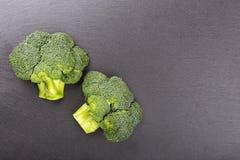Broccoli on slate boerd Royalty Free Stock Images