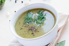 Broccoli soup Stock Photos