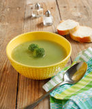 Broccoli soup in bowl Royalty Free Stock Photo