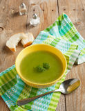 Broccoli soup in bowl Stock Photo