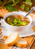 Broccoli soup and carrots Stock Images