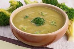 Broccoli soup. Close up on broccoli soup Royalty Free Stock Photos