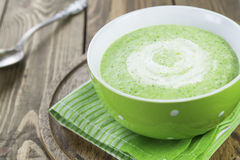 Broccoli soup with cream Royalty Free Stock Image