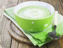 Broccoli soup with cream Stock Photography