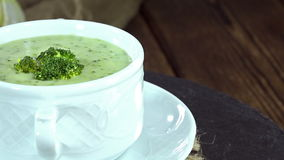 Broccoli Soup (loopable) stock video
