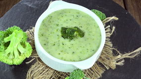 Broccoli Soup (loopable) stock video footage