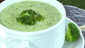 Broccoli Soup (loopable) stock footage