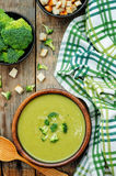 Broccoli soup puree Stock Photography