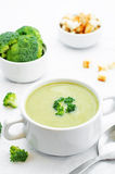 Broccoli soup puree Royalty Free Stock Photo