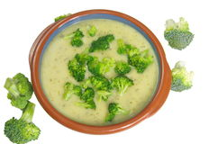 Broccoli soup Stock Photography