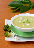 Broccoli Soup With Cheese Royalty Free Stock Photography