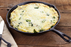 Broccoli, Spinach and Mushroom Frittata Royalty Free Stock Photography