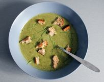 Broccoli and spinach soup Royalty Free Stock Photos