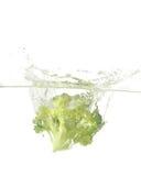 Broccoli splash Stock Photos