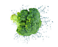 Broccoli splash Royalty Free Stock Image