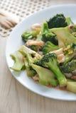 Broccoli squid Stock Photography