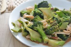 Broccoli squid Stock Images