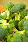 Broccoli sul mercato locale degli agricoltori. Fotografia Stock Libera da Diritti