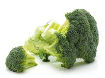 Broccoli sur le blanc image stock