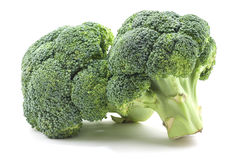 Broccoli sur le blanc Image stock