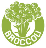 Broccoli symbol Royalty Free Stock Photo