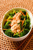 Broccoli with tofu Royalty Free Stock Images